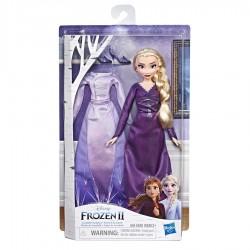 Papusa Elsa cu rochita de schimb Frozen II Hasbro E6907