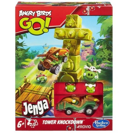 Angry birds go jenga tower