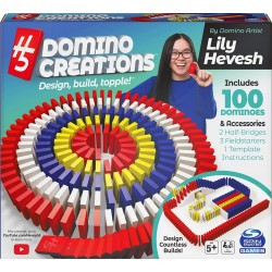 Domino art set deluxe 100 piese cu accesorii Spin-master 6059227