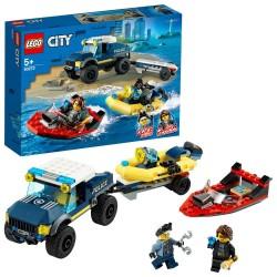 Lego city 60272 transportul barcii de politie