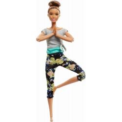 Papusa Mattel Barbie Yoga Made To Move FTG82