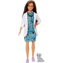 Papusa Barbie medic veterinar Mattel DVF50-GJL63