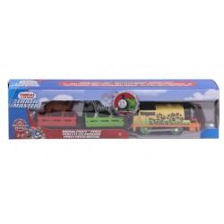 Locomotiva motorizata Percy cu 2 vagoane Thomas Mattel FTF31-FXX56