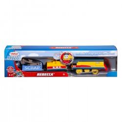 Locomotiva motorizata Rebecca cu 2 vagoane Thomas Mattel FTF31-FXX57
