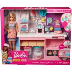 Papusa Barbie set atelier cofetarie Mattel GFP59