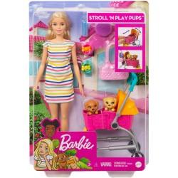 Papusa Barbie cu cateii la plimbare GHV92-GHV91