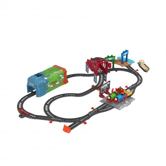 Thomas set motorizat aventuri Sodor Mattel GVL59