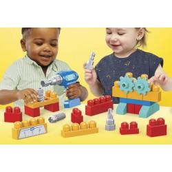 Set de constructie cu surubelnita electrica Mega Blocks Mattel GXK36