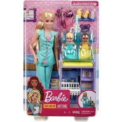 Papusa Barbie set doctor pediatru Mattel DHB63-GKH23