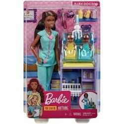 Papusa Barbie set doctor pediatru Mattel DHB63-GKH24