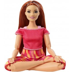 Papusa Mattel Barbie Yoga Made To Move cu 22 articulatii FTG80-GXF07