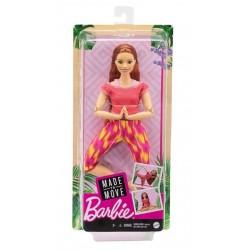 Papusa Mattel Barbie Yoga Made To Move cu 22 articulatii FTG80-GXF07