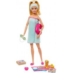 Papusa Barbie Wellness cu figurina si accesorii Mattel GKH73-GJG55