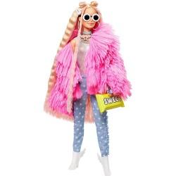 Papusa Barbie Extra cu geaca roz si porc unicorn Mattel GRN27-GRN28
