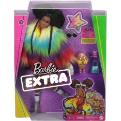 Papusa Barbie Extra cu geaca curcubeu si catelus Mattel GRN27-GVR04