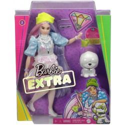 Papusa Barbie Extra cu par roz si un catelus Mattel GRN27-GVR05