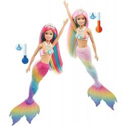 Papusa Barbie sirena care isi schimba culoarea Mattel GTF89-GTF88