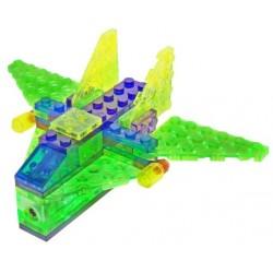 Laser pegs kit constructie cu lumini 4in1 aeronava
