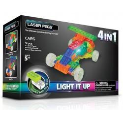 Laser pegs kit constructie cu lumini 4in1 masina