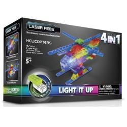 Laser pegs kit constructie cu lumini 4in1 elicopter