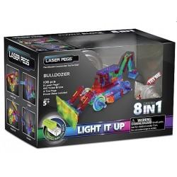 Laser pegs kit constructie cu lumini 8in1 buldozer