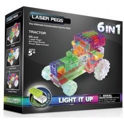 Laser pegs kit constructie cu lumini 6in1 tractor