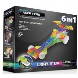 Laser pegs kit constructie cu lumini 6in1 masini de curse