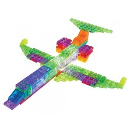 Laser pegs kit constructie cu lumini 6in1 avion