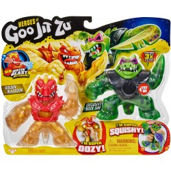 Goo Jit Zu seria 2 set 2 figurine Blazagon vs Rock Jaw 41053
