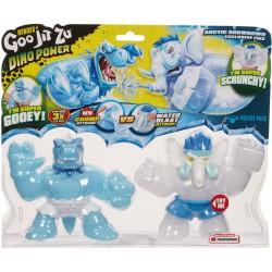 Goo Jit Zu set 2 figurine sezonul 3 Dino Power Tyro vs Gigatusk 41105-41110