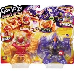 Goo Jit Zu set 2 figurine Galaxy Attack Blazagon vs Terrack 41169