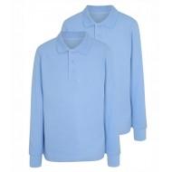 Tricou polo scoala maneca lunga baiat bleu George 5069338
