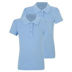 Tricou polo scoala fete bleu George 5419151