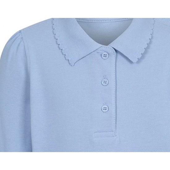 Tricou polo scoala maneca lunga fete bleu George 5737477