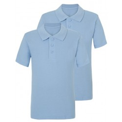 Tricou polo scoala slim fit baiat bleu George 5953559