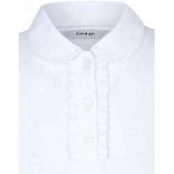 Tricou polo scoala fete maneca lunga George 5973