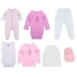 Set cadou 7 piese nou nascut fetita Kara-baby kara10