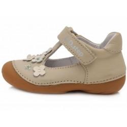 Pantofi decupati din piele pentru fetite DD Step 015-467