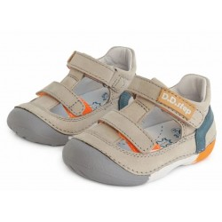 Pantofi decupati din piele pentru baietei DD Step 015-620a