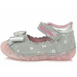 Pantofi decupati din piele pentru fetite DD Step 015-641b