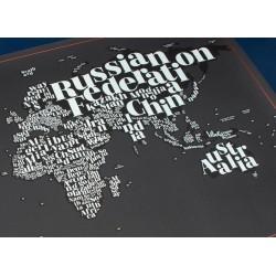 Harta razuibila Typogeography  Originala Luckies 594318