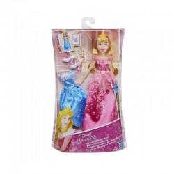 Papusa Aurora cu 2 rochite Hasbro E0285