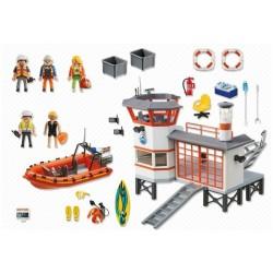 Playmobil statie de salvamari cu far luminos