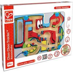 Hape labirint din lemn magnetic locomotiva E1701