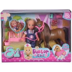 Papusa Evi medic veterinar cu calut Simba-toys 105743487