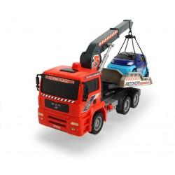 Masina de tractare cu pompa de aer si macara 31cm Dickie-toys 203806000