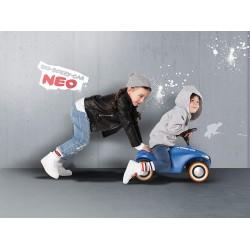 Bobby Car Neo BIG albastru cu sunet cu roţi din cauciuc 800056241