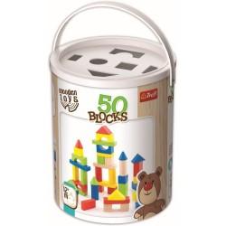 Set 50 cuburi din lemn Trefl 60937