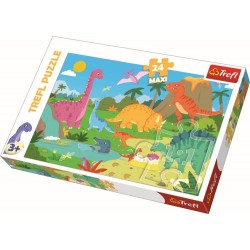 Puzzle 24 piese Maxi Dinozauri Trefl 14284