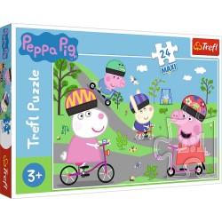 Puzzle 24 piese Maxi Purcelusa Peppa Pig Trefl 14330